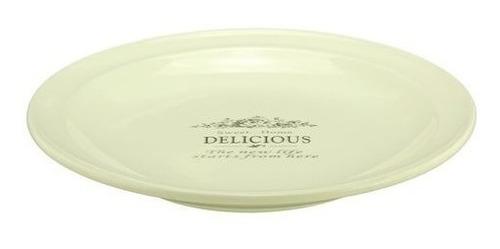 plato  de ceramica redondo  con logo