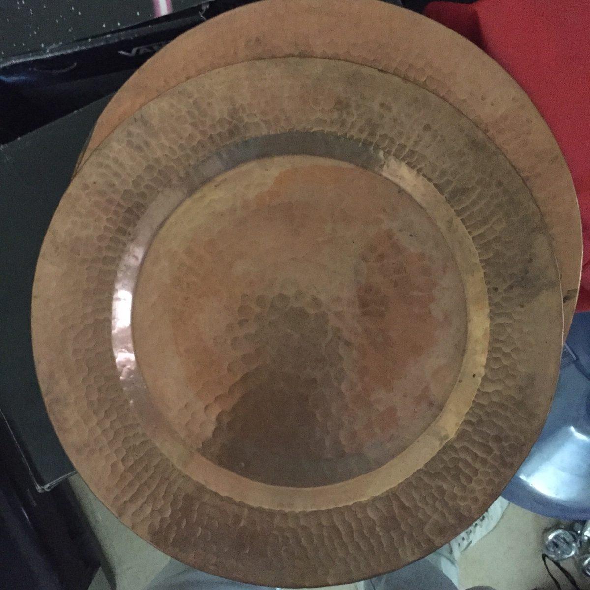 Plato de cobre en mercado libre for Articulos de decoracion de cobre