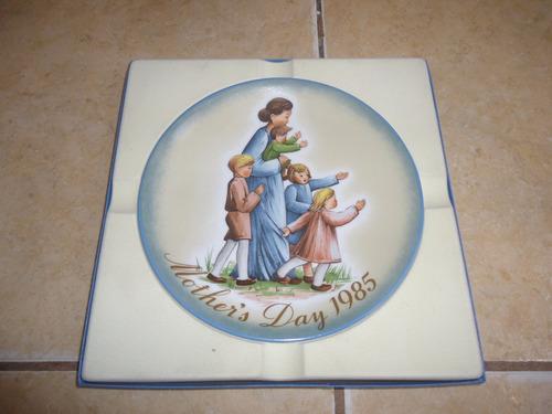 plato de coleccion ceramica dia de las madres 1985 schmid