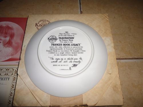 plato de coleccion ceramica niña fascinacion knowles 1985