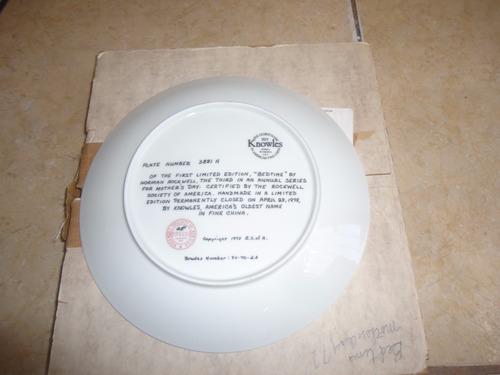 plato de coleccion ceramica norman rockwell dia madres 1978