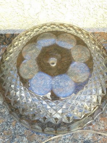 plato de cristal color ambar