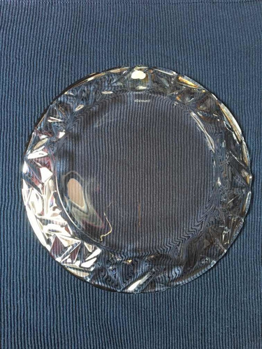 plato de cristal tallado claro de 12 tiffany & co