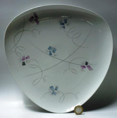 plato de pared porcelana triangular hutschenreuther