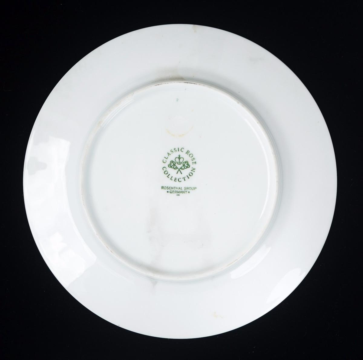 Plato de porcelana alemana rosenthal bs en for Platos porcelana