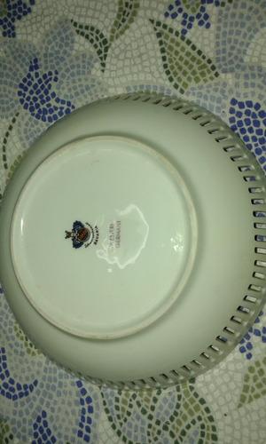 plato de porcelana calado bavaria