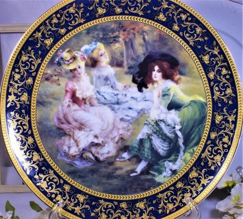 plato de porcelana con reproducción de pintura 28cm n° 2