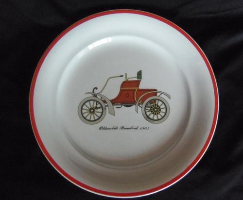 plato de porcelana francesa villeroy & boch auto antiguo