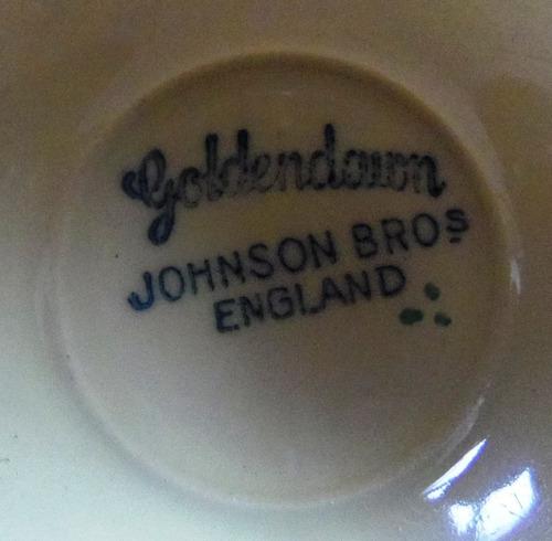 plato de porcelana inglesa  johnson bros - goldendawn