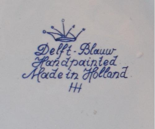 plato de porcelana pintado a mano de molino holandés