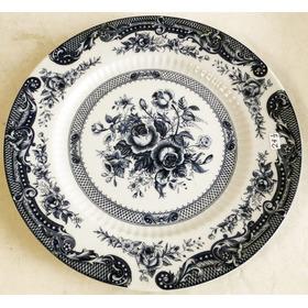 Plato De Porcelana Tsuji Para Decorar 25 Cm.