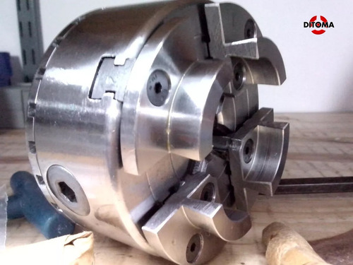 plato de torno para madera 100mm 4 garras autocentrante