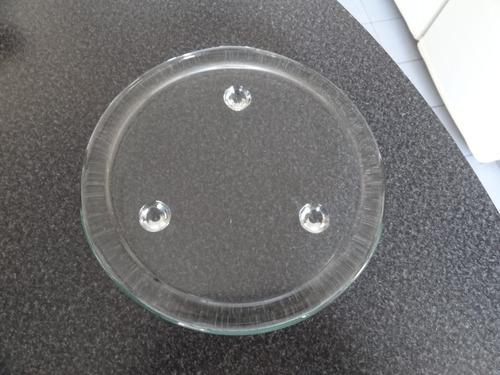 plato de vidrio transparente para adorno