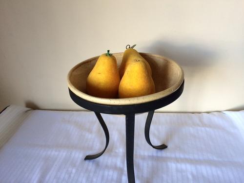 plato decoración para frutas velas flores dips adorno