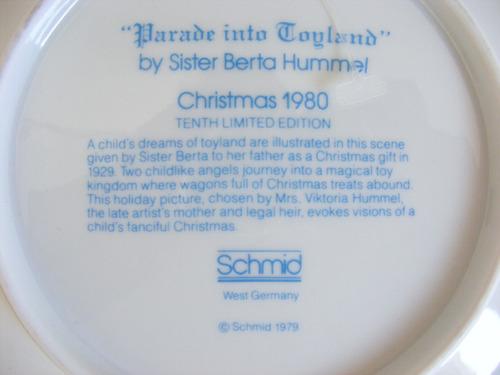 plato decorativo 1980, berta hummel, hecho en alemaniaa