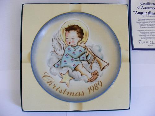 plato decorativo 1989, berta hummel, hecho en alemania