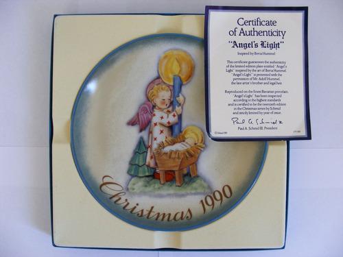 plato decorativo 1990, berta hummel, hecho en alemania