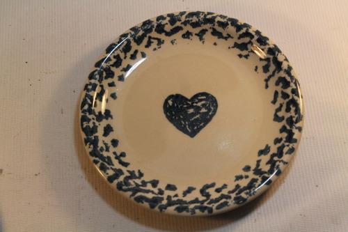 plato decorativo corazon folk craft