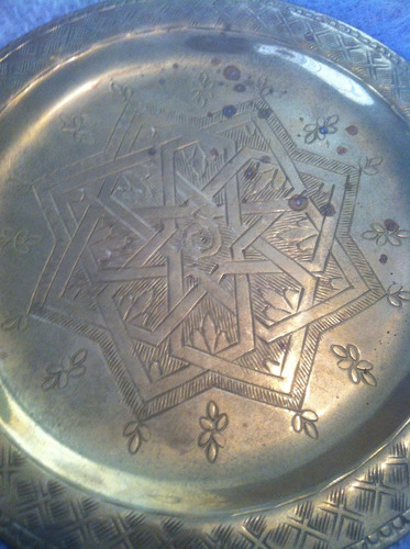 plato decorativo de bronce 2