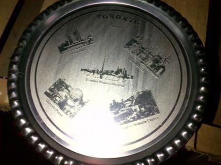 plato decorativo de hojalata de toronto canadá