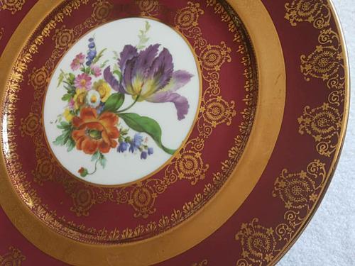 plato decorativo de porcelana fina - gloria bavaria bayreuth