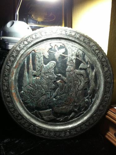plato decorativo en cobre