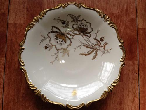 plato decorativo en porcelana lindner kueps bavaria alemania