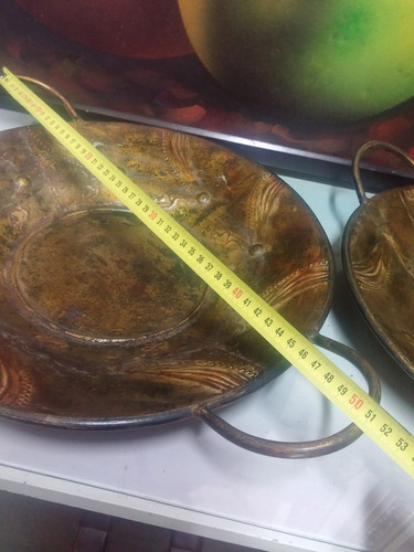 plato decorativo hindu metalico precio x c/u