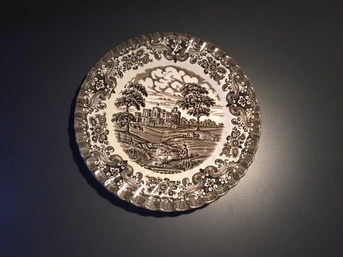 plato decorativo ingles ceramica olde country castles chico