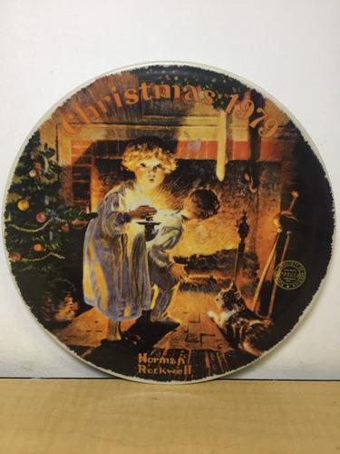 plato decorativo norman rockwell navideño a2