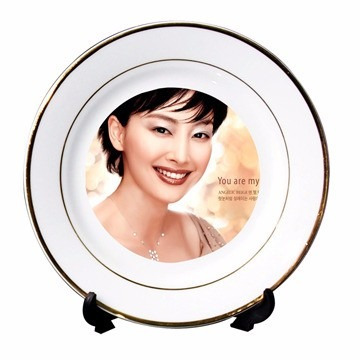 plato decorativo personalizado 8 pulg.  + soporte