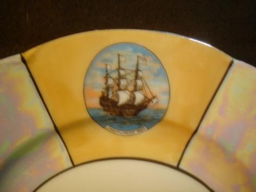 plato decorativo porcelana bavaria sellado  18,5 cm.(528f)