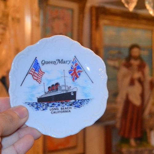 plato decorativo porcelana queen mary long beach california.