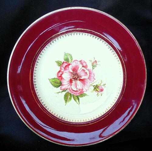 plato english rose stafford shire made in england coleccion