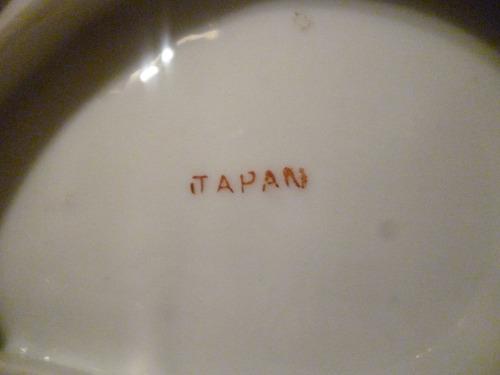 plato galletero   porcelana japón  fino antiguos, deco loza