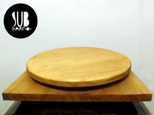 plato giratorio 28 cm aprox reforzado bonsai artesanía