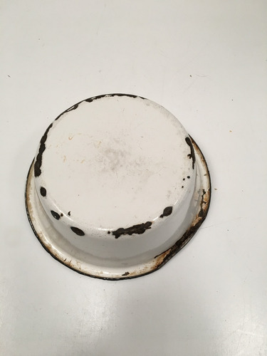 plato hondo antiguo chapa enlozada campo escupidera (lb172)
