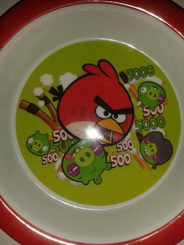 plato hondo tazon angry birds! fiesta