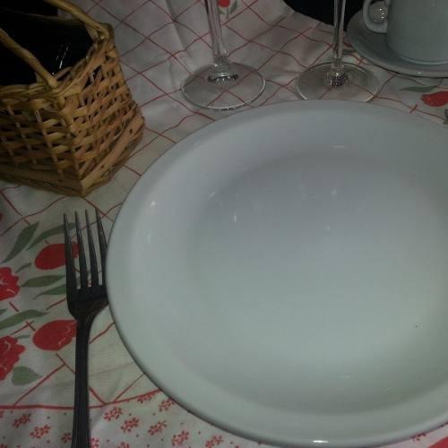 plato hondo vajilla porcelana