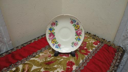 plato ingles antiguo exquisito diseño floral decorar vealo