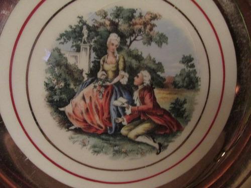plato ingles con motivo de pareja