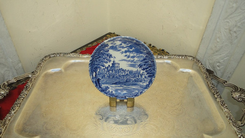 plato ingles miniatura todo decorado diseño castillo vealo