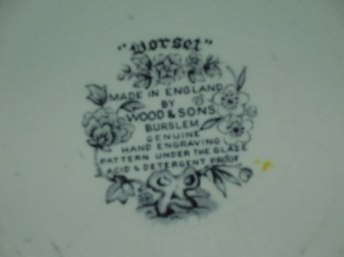 plato ingles pintado a mano sellado por wood & sons