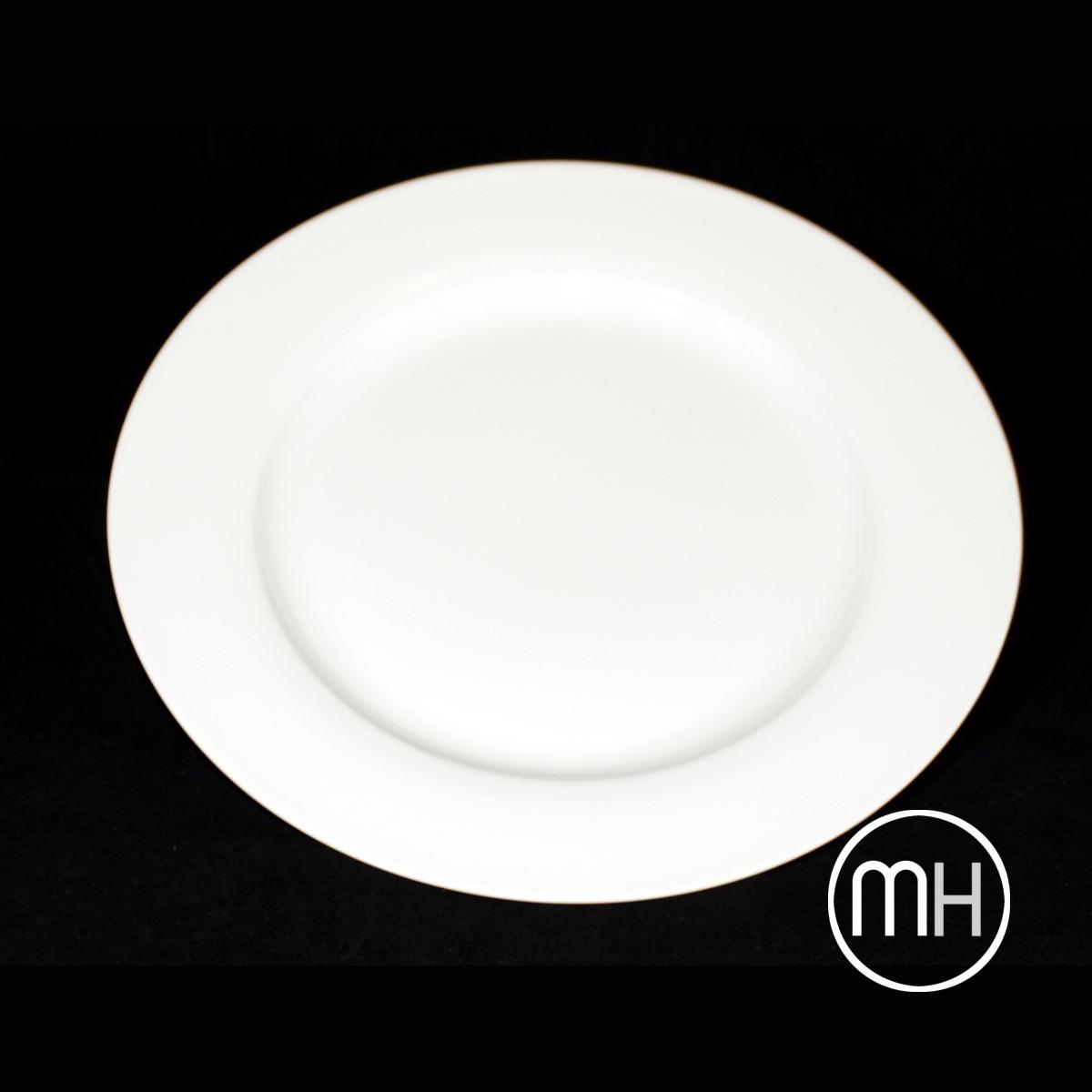 Plato llano de 27 cm porcelana blanca 56 50 en for Platos porcelana blanca