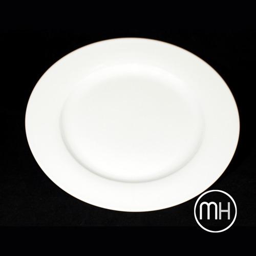 Plato llano de 27 cm porcelana blanca 56 50 en - Platos porcelana blanca ...