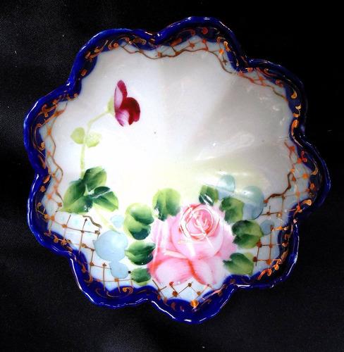 plato made in japan pintado a mano adorno vitrina coleccion
