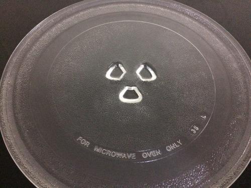 plato microondas de vidrio templado lg 100% original