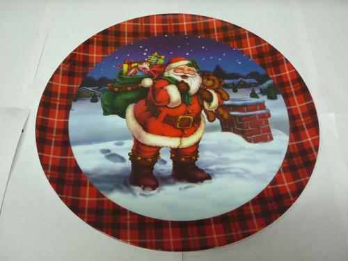plato navideño de melamine decorativo
