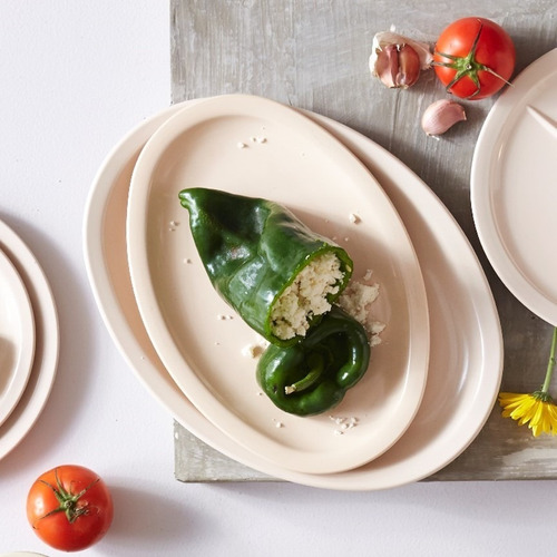 plato ovalado grande de melamina 34 cm. 24 piezas