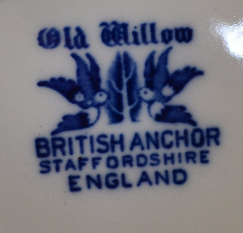 plato paisaje loza inglesa willow